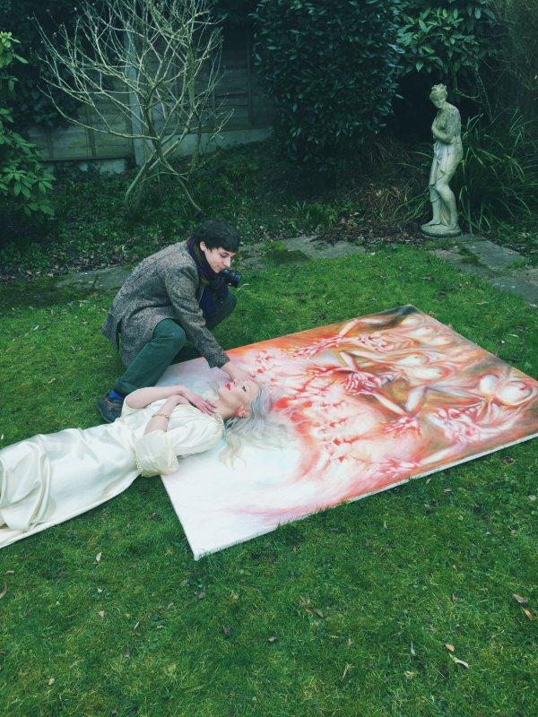 ewa_wilczynski and Kurtiss LloydFAULT_mag_4_behind_the_scenes_Feb_2015