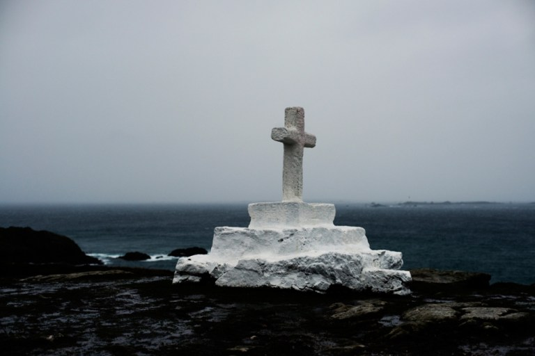 Seaside Cross beyond the sea by Julien Conquentin
