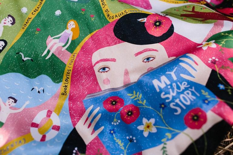 #Ekaterina-Stepanishcheva #mysilkstory #illustratorsofukraine #modern-art #contemporary-women-artists #illustration #silk-painting