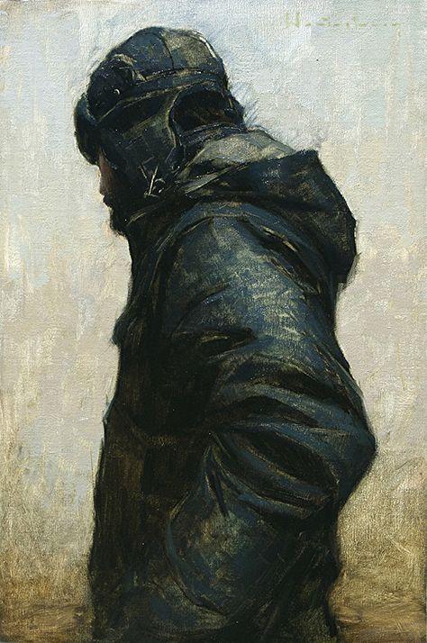 American contemporary artist Aaron Westerberg Self Portrait