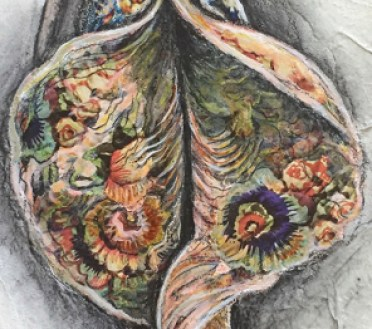 Detail of Jacqueline Secor Painting from the Series Diversity of Nature