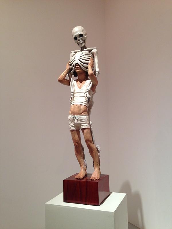 Side view of Memento Mori by Kanemaki