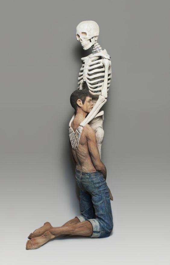 Contemporary-Sculpture, Wood-Sculpture, Art, Japanese Art, Kanemaki