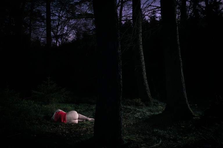 Woman in Forest from Red Series by Ersen Sariozkan