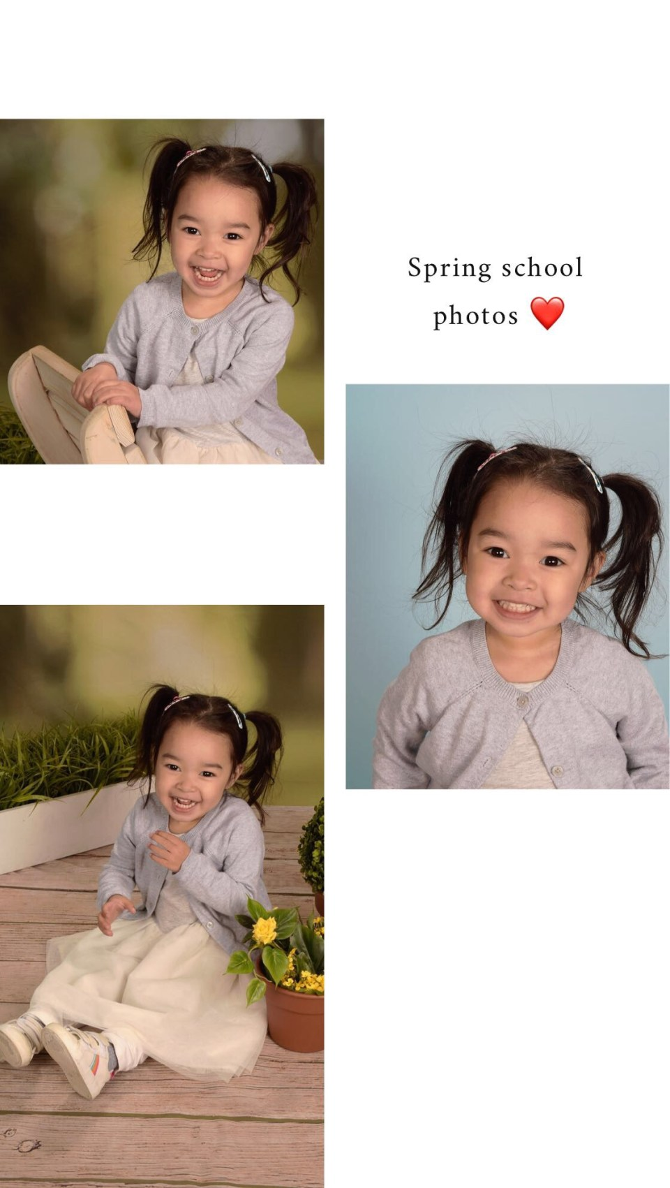 Addy's Spring School Photos