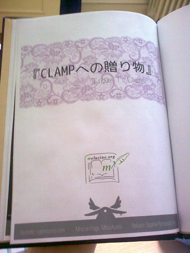 Artbook Tribute to CLAMP - flyleaf