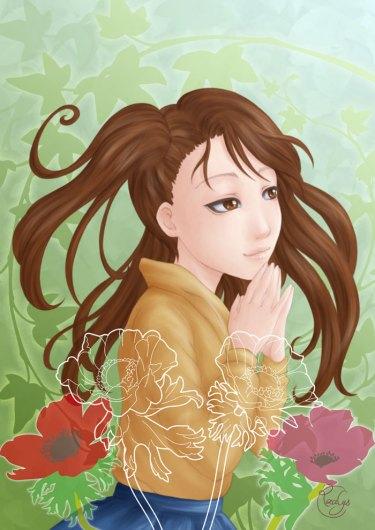Artbook Tribute to Tsukasa Hôjô - My illustration - Sarah