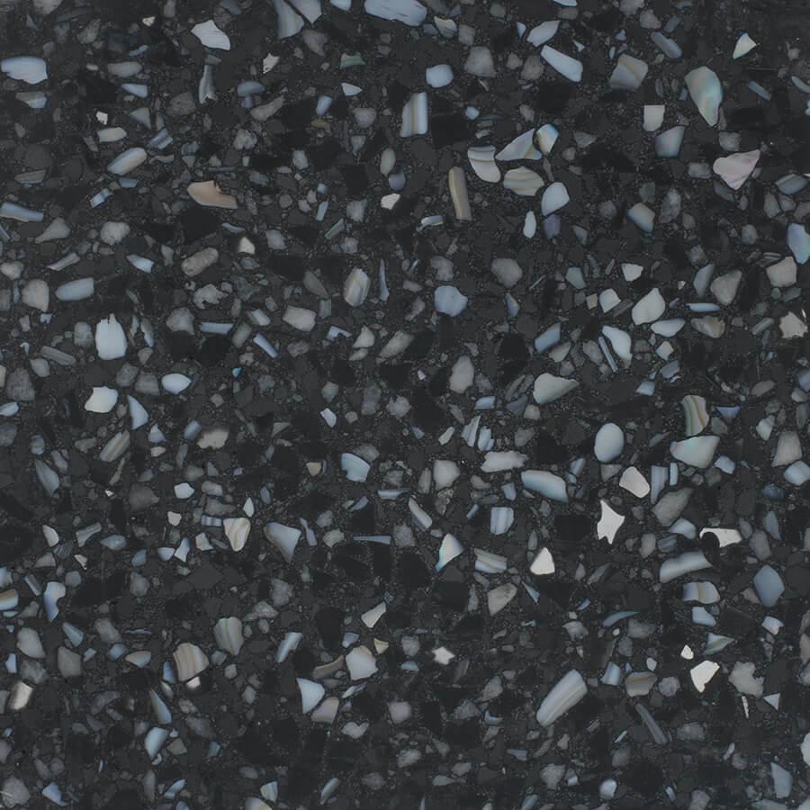 Black and Grey Terrazzo  Rosa Mosaic