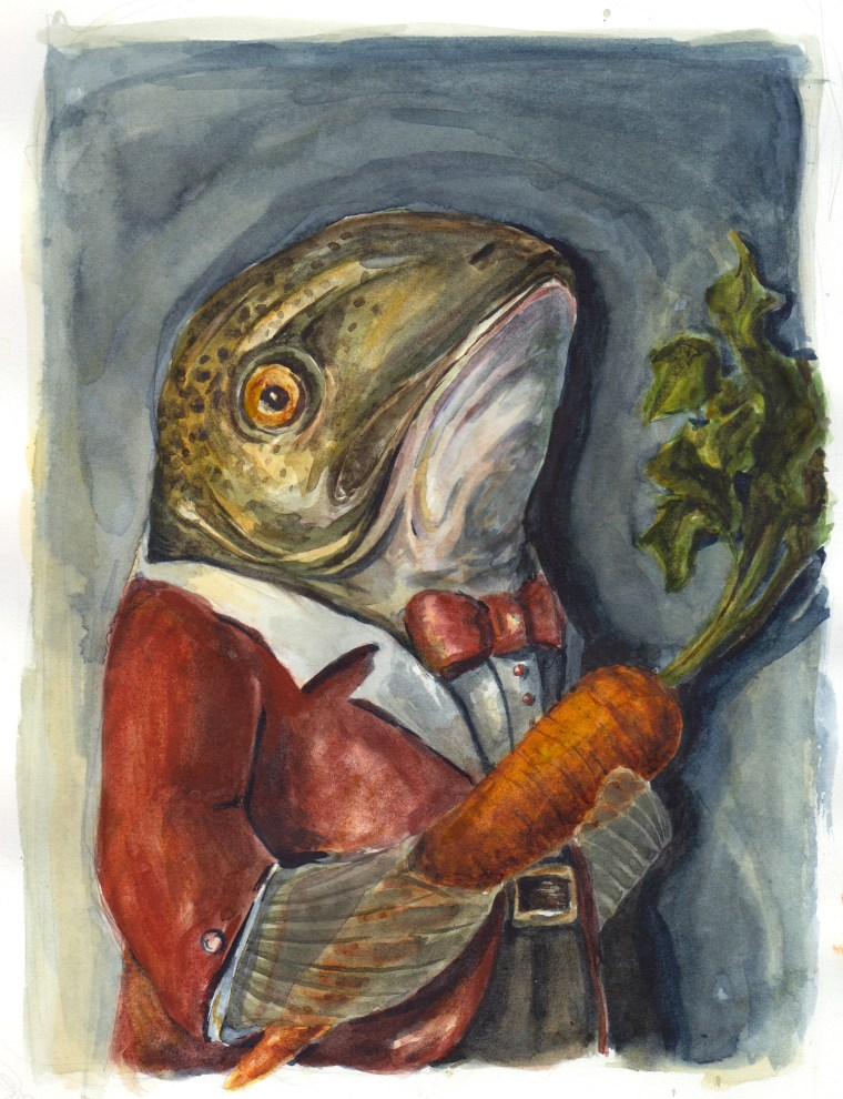Family Carrot, Watercolor