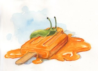 Slug Upon Popsicle - Watercolor