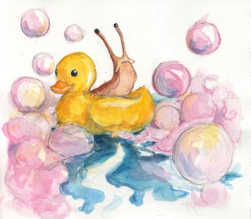 Ducky Slug - Watercolor
