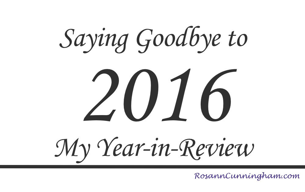 Saying Goodbye To 2016 My Yearinreview  Rosann Cunningham