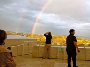 Double rainbow at the Museum