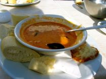 Fish soup at the Beach House cafe