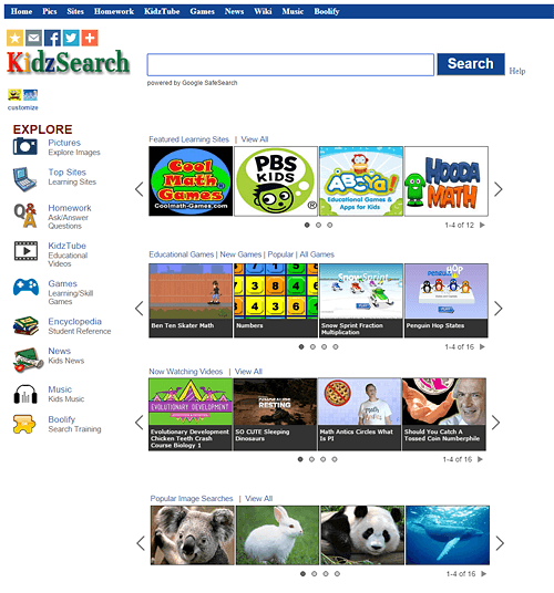 KidzSearch - buscador para niños en internet