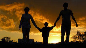 family walking in faith