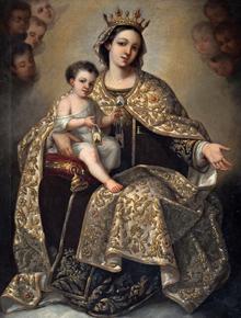 """Virgen del Carmen"", Augusto Montse Quesada, 1863"