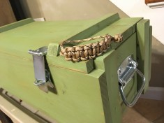 WittyThings Paracord Bracelet and Ammo Box Chest