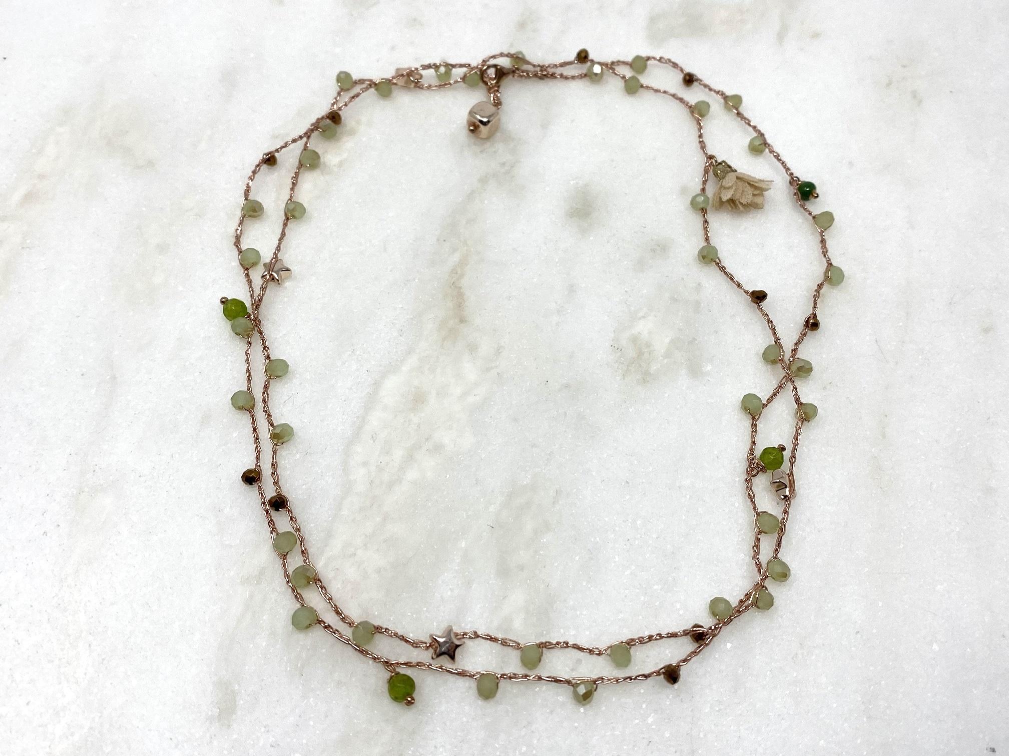 Cavigliera multiuso Rosa Rosa bijoux