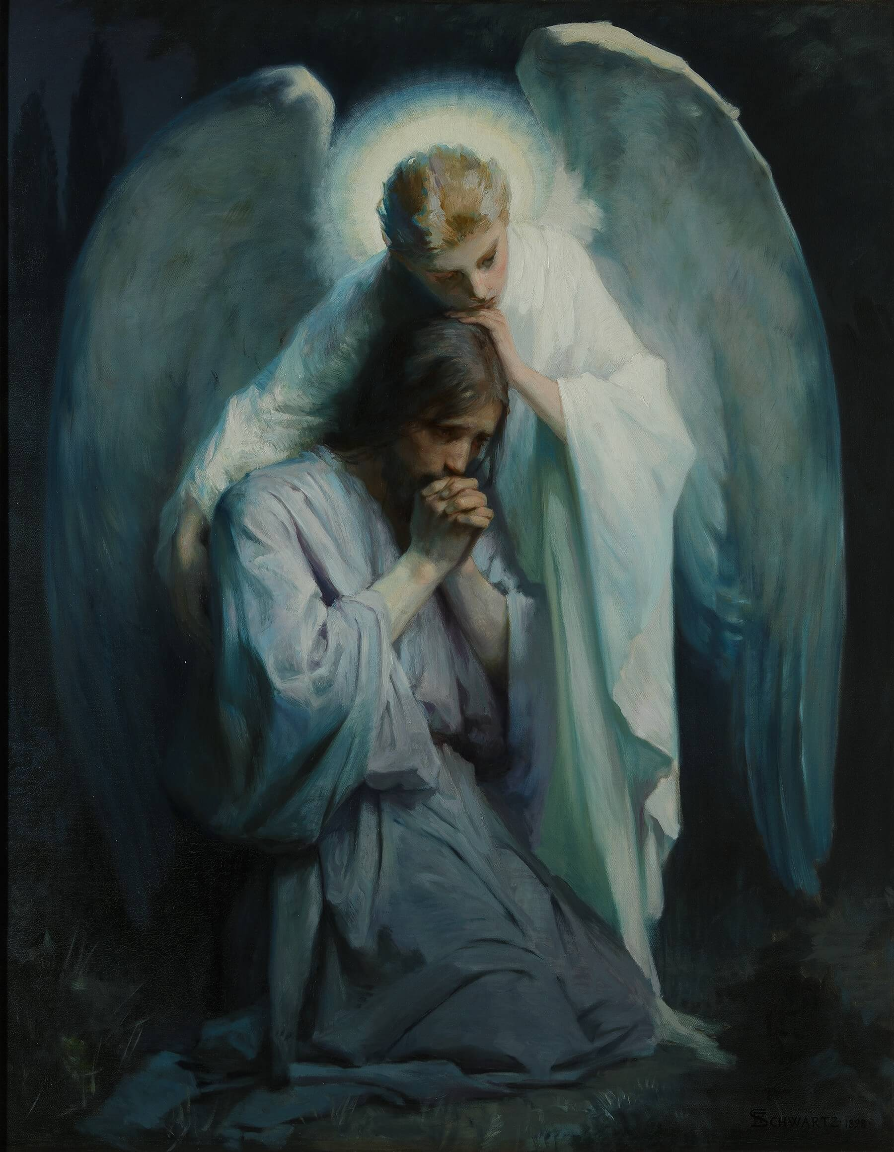 Jesus with an angel