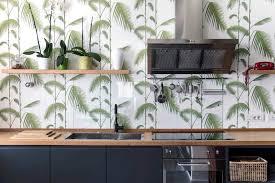 rivestimento parete cucina tropical