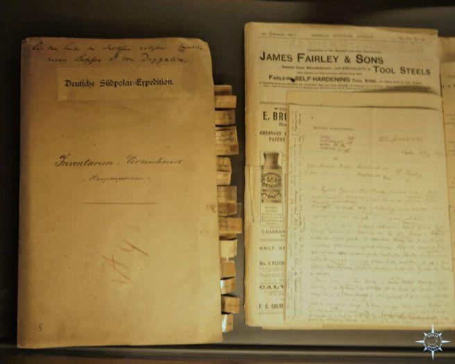 Unterlagen der deutschen Antarktis-Expedition