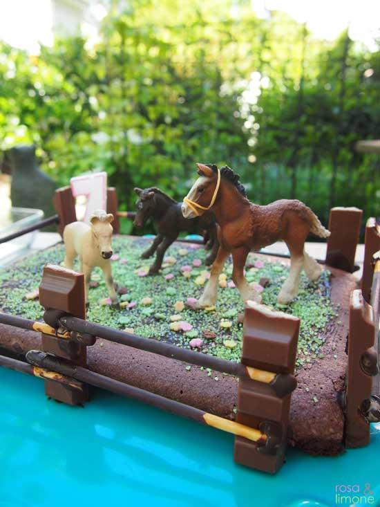 Pferdekoppelkuchen fr den Kindergeburtstag