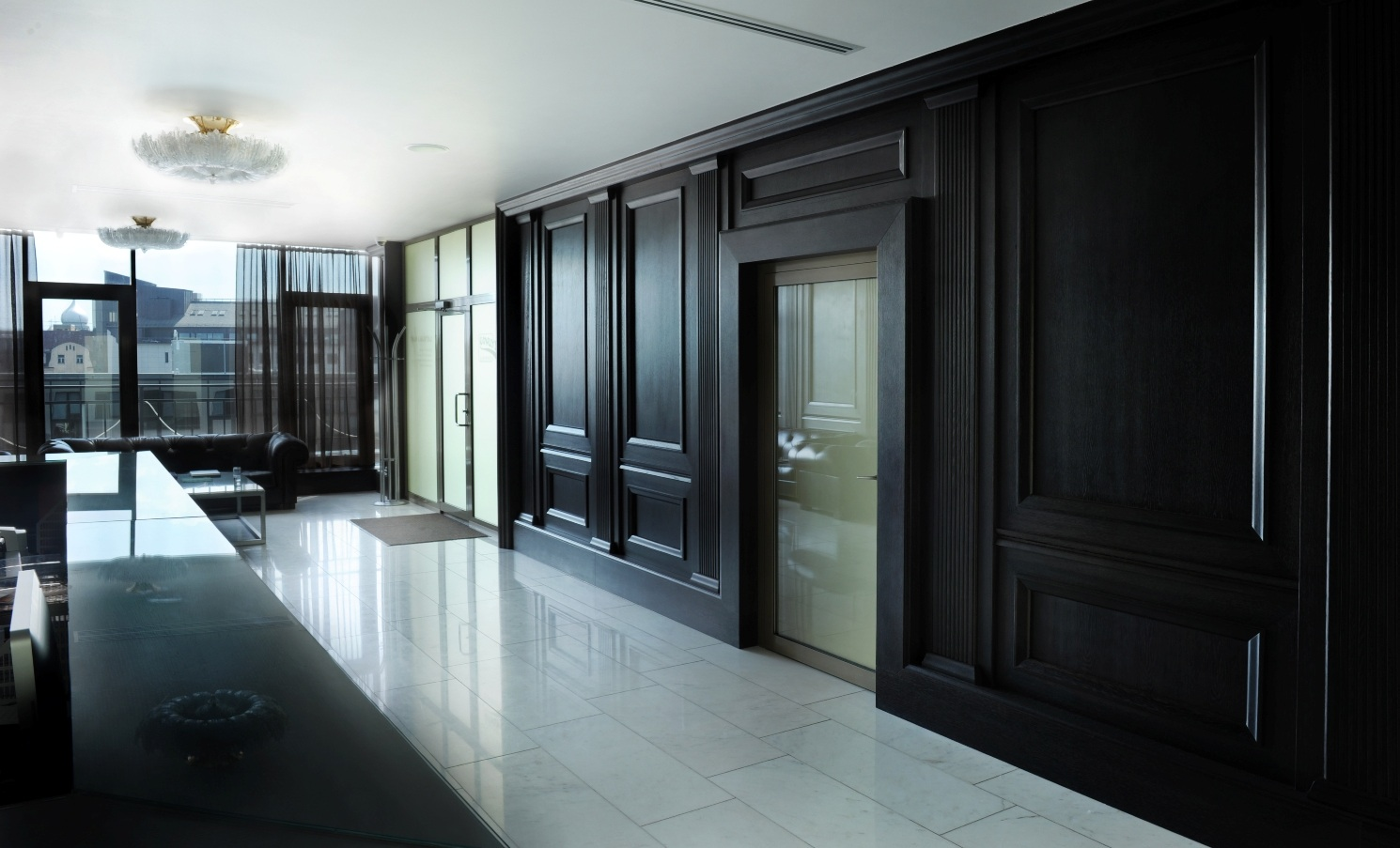 Interior with ROSBY wood wall panel system BARON1