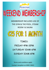 weekend membership