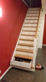 Escaliers tiroirs blancs // Un Air d'Intérieur Blog déco & DIY unairdinterieur.wordpress.com