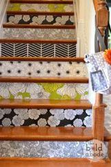 Escaliers papiers peints fleuris // Un Air d'Intérieur Blog déco & DIY unairdinterieur.wordpress.com