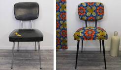 Relooking de chaise avec du tissu wax