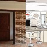 Rénover une cuisine en briques