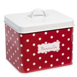 Boîte à pois rouge BISCUIT, 16,99€