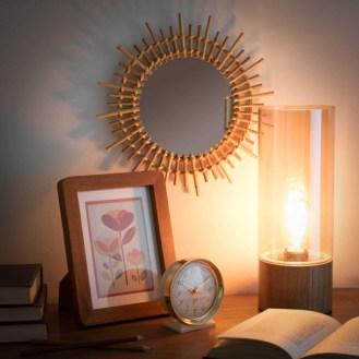 Lampe tube en verre teinté AMBRE, 26,99€