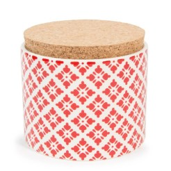 Pot en faïence rouge SNOW, 8,99€