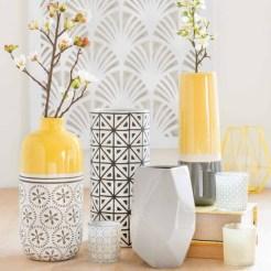 Des vases bicolores
