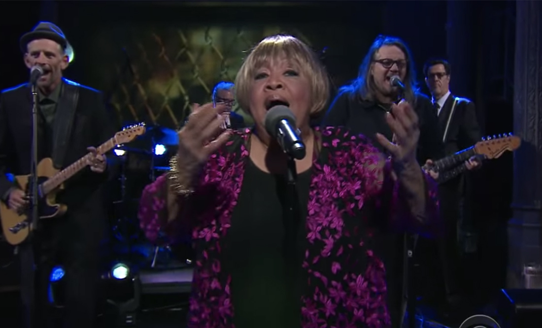 "Watch Mavis Staples Perform ""Build A Bridge"" with Wilco's Jeff Tweedy and John Batiste on Stephen Colbert"
