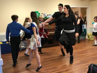 A figure of the ceili dance