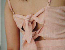 Robe en lin rose