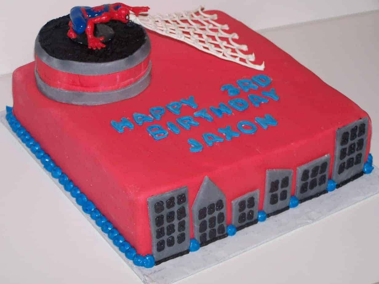 Adventures In Baking Spiderman Birthday Cake