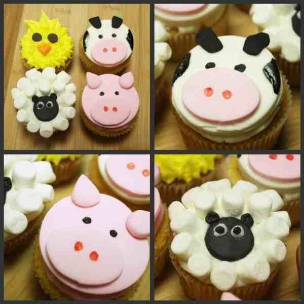 Barnyard Full Of Cupcakes Sheep Cows Pigs & Chicks