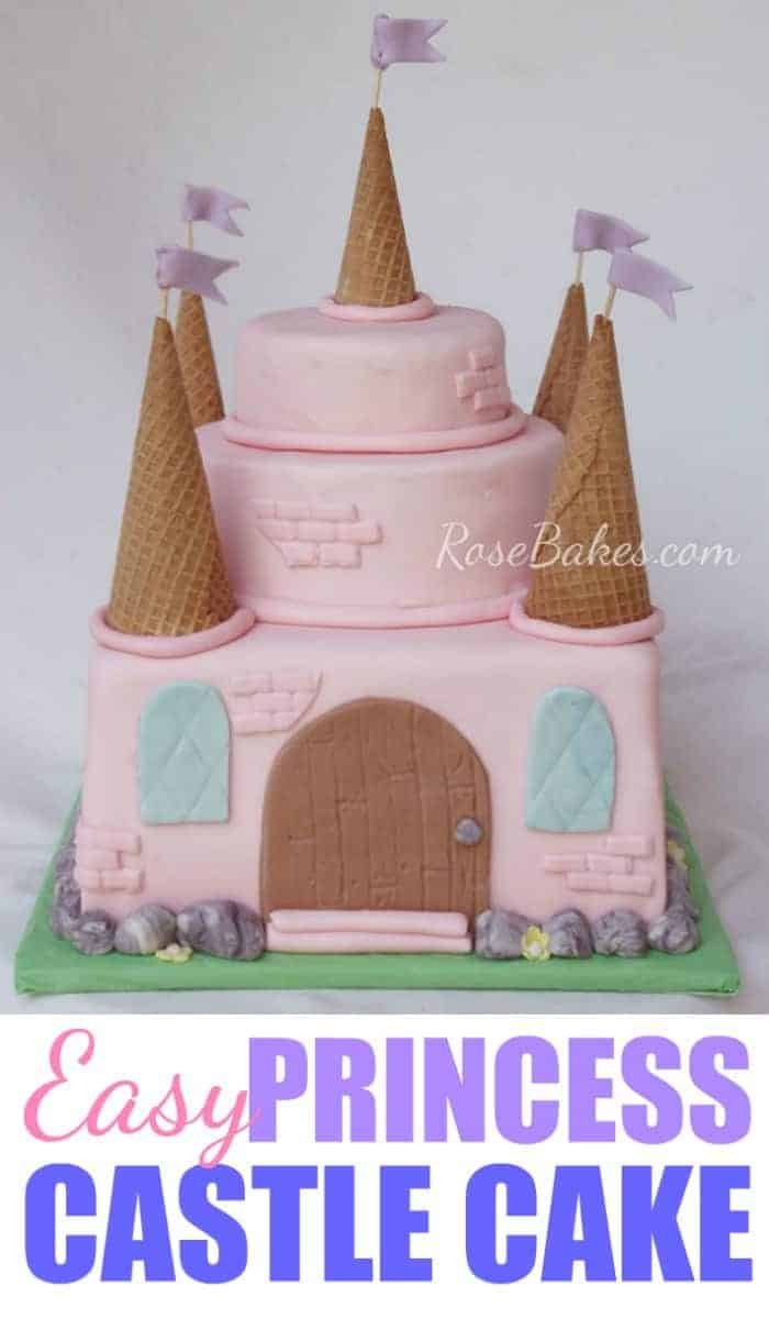An Easy Pink Princess Castle Cake