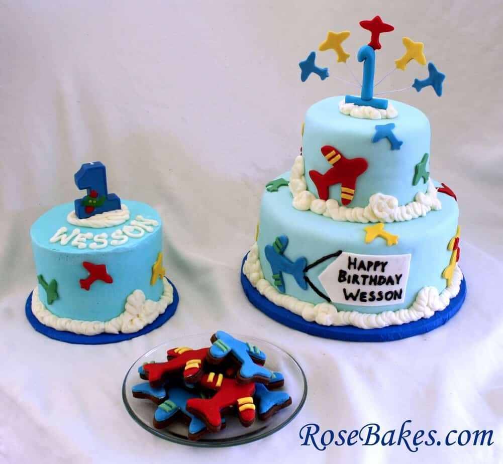 An Airplane Cake A Smash Cake Amp Airplane Cookies