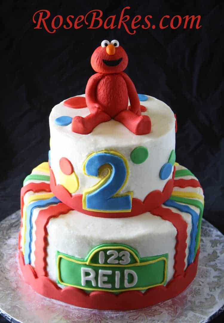A Sesame Street Elmo Cake Rose Bakes