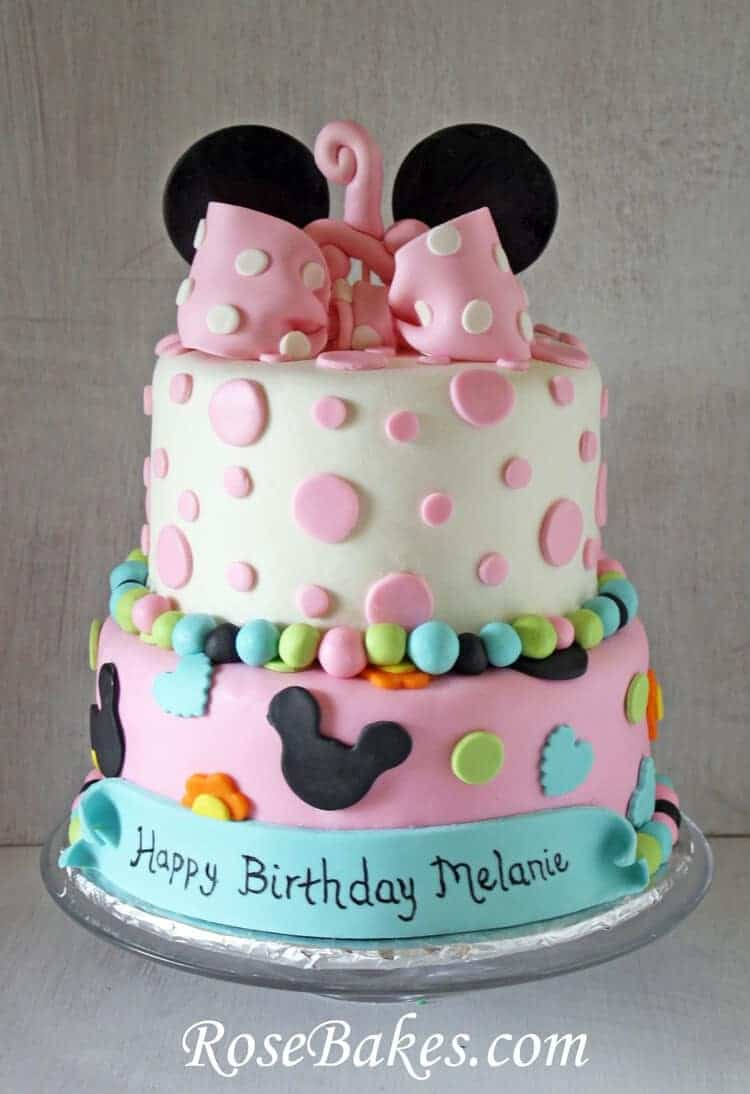 Minnie Mouse 1st Birthday Cake Smash Cake