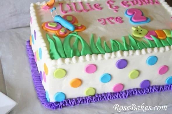 Cute Bugs Caterpillar Butterflies Birthday Cake And Cookies