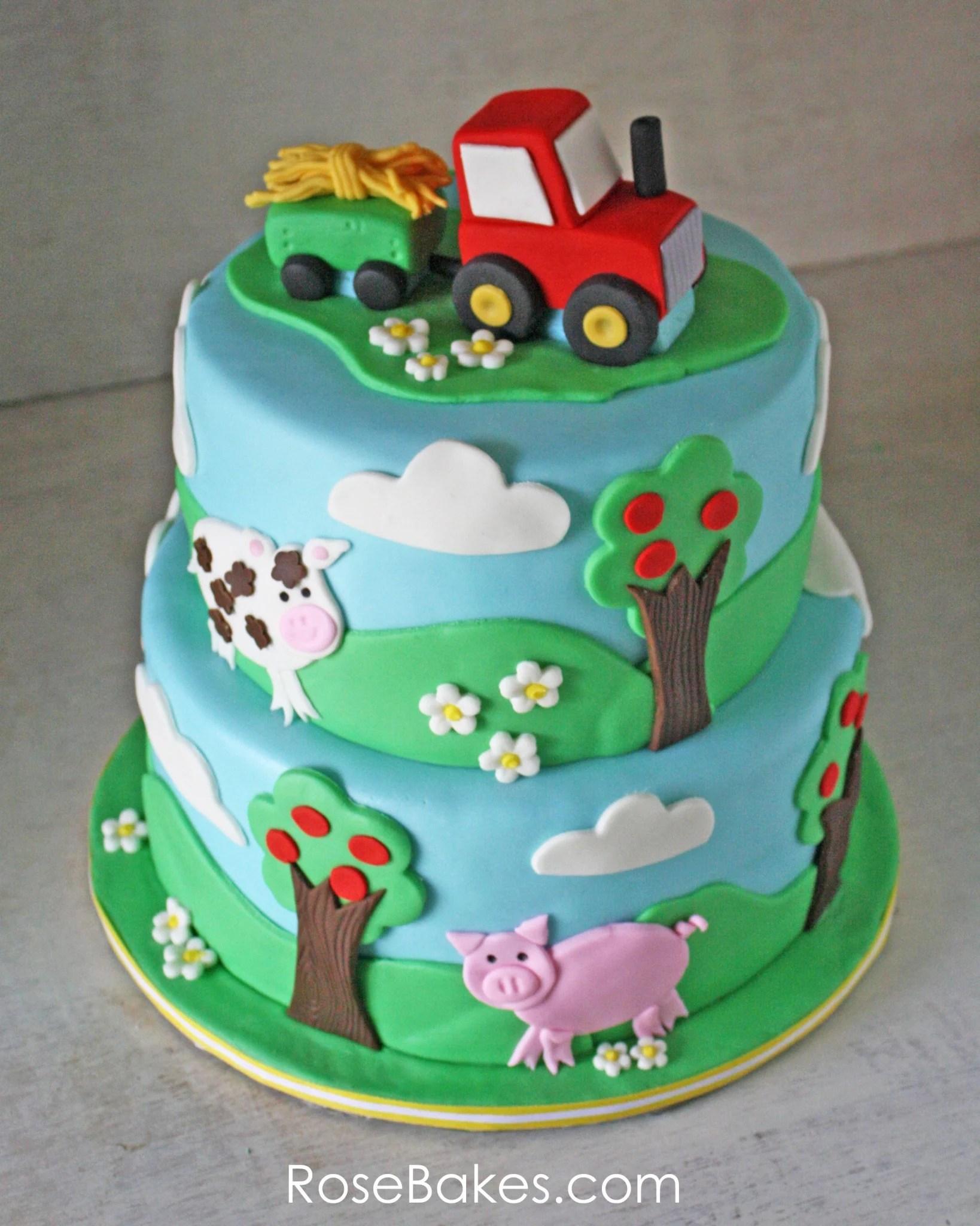 Farm Animals Cupcake Toppers Tutorials