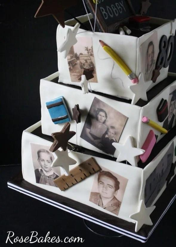 Retired Teachers 80th Birthday Cake Rose Bakes