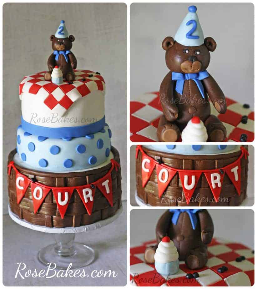 Teddy Bear Picnic Birthday Cake Rose Bakes